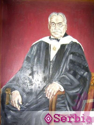 mihailo pupin portret Selo Idvor, Mihajlo Pupin