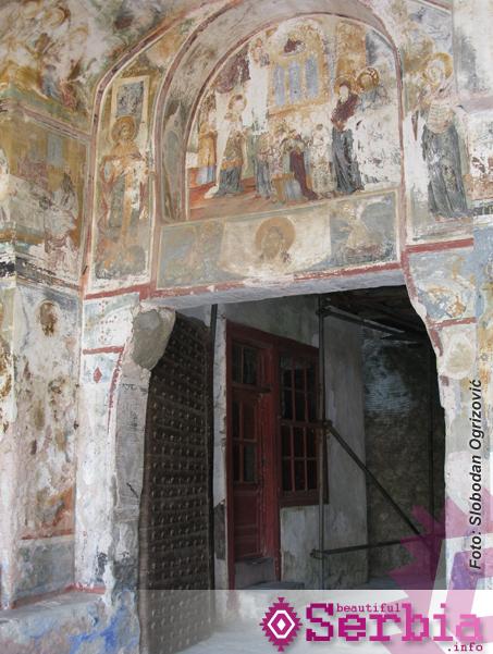 ulaz u manastir freske Hilandar