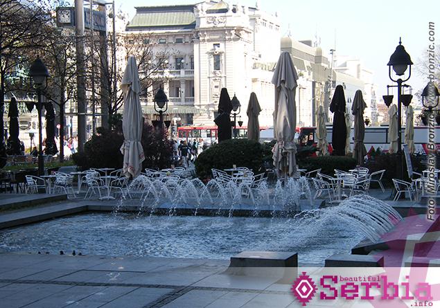 trg republike fontana Razgledanje Beograda
